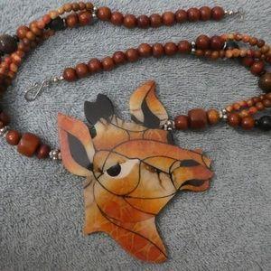 Giraffe With An Attitude Necklace